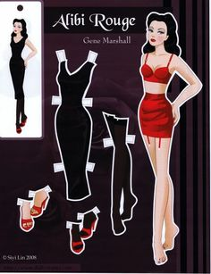 Gene Marshall doll: Alibi Rouge, paper doll by Siyi Lin   Album Archive