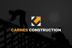 Construction Company Logo Design by Derek Kimball, via Behance. You can view more of Derek's work by visiting his graphic design website: http://designbuddy.com