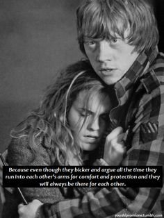 Hermione and Ron. Perfect.