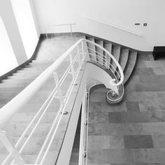 The stairway at the Badisches Landesmuseum.