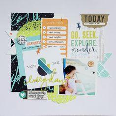Everyday by Piradee Talvanna using Cocoa Daisy November 2014 kits (Weathervane) www.cocoadaisy.com #scrapbooking #cocoadaisykits #cocoadaisy #scrapbooking #baby #family #travels #kitclub #everyday #life