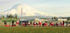 From our YouNews friend Chromie:  Perfect weather and an awesome back drop for watching football in the early fall on South Hill, Puyallup.