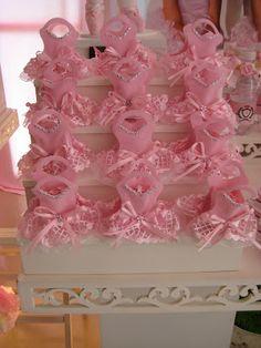 Mimos & Artes: Festa bailarina rosa.