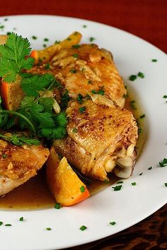 Ginger, Coriander & Orange Braised Chicken ~ http://steamykitchen.com