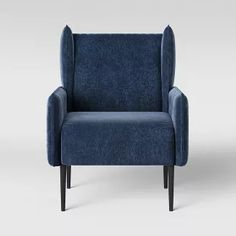 New living room blue accents reading nooks ideas Paint Colors For Living Room, New Living Room, Scandinavian Dining Table, Living Room Furniture Arrangement, Tufted Chair, Modern Armchair, Target, Reading Nooks, Furniture Chairs