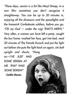 Caitlin Moran hitting the nail on the head