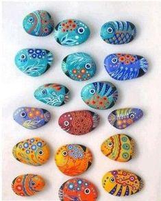 Steentjes zoeken en schilderen. Inspratie! | #kinderen | #schilderen