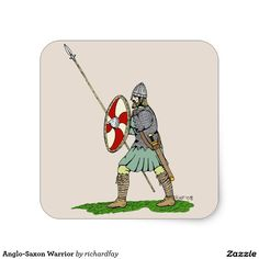 SOLD 10/6/2016 through Zazzle to a customer in Amissville, VA: two sheets of Anglo-Saxon Warrior Square Stickers. #sold #zazzle #stickers #anglo_saxon #anglo_saxon_warrior #dark_age_warrior #thegn