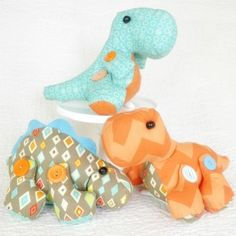 Delightful Dinos toy dinosaur sewing pattern