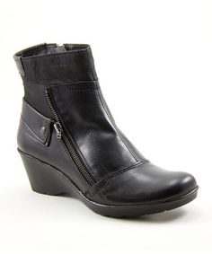 Love this Black Happening Wedge Boot on #zulily! #zulilyfinds