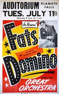 Fats Domino Flyer.