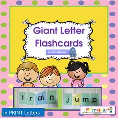 Phonics | Letter Sounds | Giant Letter Flash Cards | PRINT Letters | Grades k-2 I found my students really enjoyed these cards as they explored sounds and created words on their own! What a wonderful word work resource for teachers using Jolly Phonics, Reading Specialists, Learning Resource Teachers, Special Education Teachers, Classroom Teachers, Homeschool, and Parents. Directions: Copy the GIANT Letters onto cover stock. You need three colours of paper for the transparent alphabet. C...