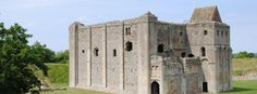 Castle Rising Castle, Norfolk built by William d'Aubigny II. William married Adeliza of Louvain, the widow of King Henry I ... can still see the his/her latrines William had built for Adeliza.
