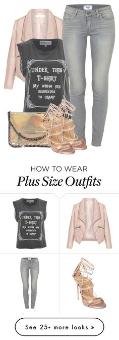 """""""candy rock"""" by ele88na on Polyvore featuring Zizzi, Wildfox, Paige Denim, STELLA McCARTNEY and Dsquared2"""
