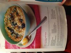 Red lentil soup w chard