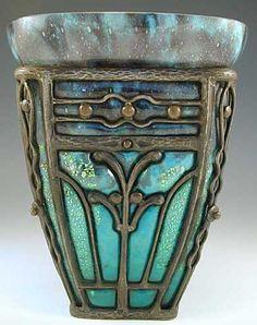 """Daum & Majorelle Art Nouveau Glass Vase - France - c1930 - """" I Adore This Beautiful Piece Of Art!"""