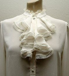 Ann Chabrol Frilly Lace Voile Jabot Blouse Bodice Front | Flickr - Photo Sharing!