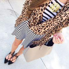 Today's #ootd because stripes & leopard never get old 💓💓 @liketoknow.it www.liketk.it/1IXEB #liketkit #whatimwearing #wiw #ootd #leopard #stripes #laceupflats #fallstyle #fallfashion
