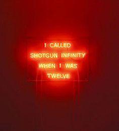 I Called Shotgun Infinity When I Was Twelve  By Kelly Mark