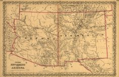 Colton's New Mexico and Arizona. | Library of Congress