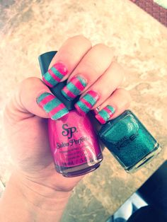 DIY Nail Design In Salon Perfect Pink Mystique and Pure Ice Watch Me Go