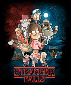 Spoof on Strange Things with Gravity Falls characters