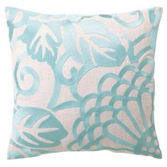 Bring an eye-catching pop of style to your living room or master suite with this lovely linen pillow, showcasing an oversized floral motif and feather-down f...
