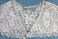 Stunning Edwardian Antiques Lace Collar With 3d Roses Other Antique Lace & Crochet