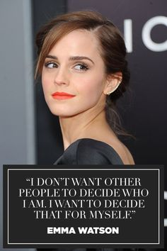 19 Emma Watson Quotes That Will Inspire You - Cute Quotes Emma Watson Frases, Emma Watson Feminism, Emma Watson Quotes, Cute Quotes, Girl Quotes, Woman Quotes, Best Quotes, Inspiring Quotes, Inspiring Women