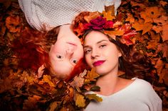 https://flic.kr/p/zFUuzJ | Sisters of Autumn |  Beautiful Red!   #beautiful #fall #leaves #redheads #autumn #photography