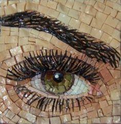 L'œil    2011.   Andjelka Radojevic :L'œil  mosaïque, smalti   8x8cm  AMAZING detail!
