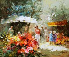 Mercado de flores. Willen Haenraets
