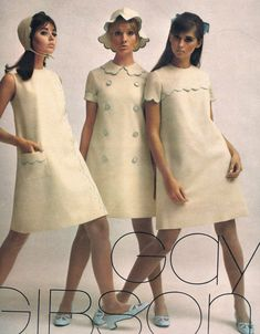 Colleen Corby, Cay Sanderson and Regine Jaffrey. Seventeen Sept Make it 60s And 70s Fashion, 60 Fashion, Fashion History, Fashion Photo, Retro Fashion, Fashion Models, Vintage Fashion, Womens Fashion, Fashion Trends