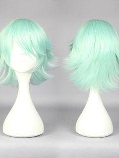 Medium Layered Straight Light Green Cosplay Wig Item # W24115  Original Price: $154.00 Latest Price: $34.59