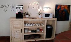 1 recycled pallet kitchen cabinet