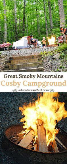 For a developed campground, Cosby Campground in Great Smoky Mountains National Park in Tennessee is one of the best. Sites tucked in the trees allow for quiet, peaceful camping with a secluded feel. #camping #campvibes #camplife #campground #Tennessee #SmokyMountains #nationalparks #outdoors #adventure