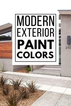 Update your home's exterior with these perfect modern exterior paint color schemes! These modern exterior paint color combinations will inspire you to paint your home with colors that complement each other! Best House Colors Exterior, Exterior Paint Color Combinations, Paint Color Schemes, Exterior Paint Colors, Modern Exterior, Good House, Painting, Inspiration, Biblical Inspiration