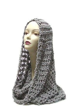 Gray Neckwarmer Grey Cowl Crochet Scarf by thecattsuglybabies    ♪ ♪ ... #inspiration_crochet #diy GB