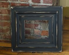 8x10 Black Suede Picture Frame, Handmade and Elegantly Distressed on our new Colonial Style Frame. $86.00, via Etsy.