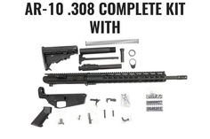 """This is a complete AR-10 upper receiver kit with an 18"""" .308 BarrelThe Upper Receiver parts included are below: 15' Keymod Rail UpperReceiver ,DPMS style . F"""