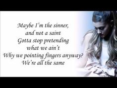 Goodness! This couldn't have been any more perfect!!!!!   Best mistake-Ariana Grande