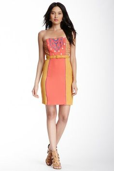 Flying Tomato & Jealous Tomato Embroidered Strapless Belted Dress by Non Specific on @HauteLook