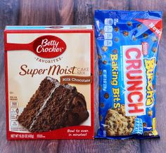 No cookie monster cravings will be able to resist this amazing Chocolate Candy Cookies Recipe made with Nestle Crunch baking bits! Just 4 ingredients! Chocolate Chip Cookies, Butterfinger Cookies, Chocolate Crunch, Chocolate Cake Mixes, Cake Mix Cookie Recipes, Dessert Recipes, Cookie Ideas, Desserts, Cookies
