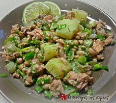 Salad Recipes, Healthy Recipes, Lunch To Go, Food Decoration, Happy Foods, Salad Bar, Greek Recipes, Healthy Nutrition, Seafood Recipes