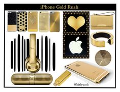 """iPhone Gold Rush!"" by whirlypath ❤ liked on Polyvore featuring mode, Forever 21, Michael Kors, Henri Bendel, Bling My Thing, Frends en Q Designs"