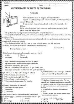 Atividades e questões para imprimir e aplicar em sala de aula, textos curtos para interpretação 4° ano do ensino fundamental, sendo ótimos e...