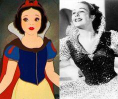 Os filmes da Disney têm sempre o poder de deixar a gente apaixonada por algum personagem, tanto mocinhos quanto vilões. Descobri esses dias que os personagens antigos (não sei atualmente) eram inspirados em alguma pessoa real (quero ser uma princesa, por favor!!!). Inclusive algumas atrizes deram a vida e a voz a mais de um personagem. Por exemplo, a Helena Stanley foi usada de base pra Aurora, Cinderela e a Anita...