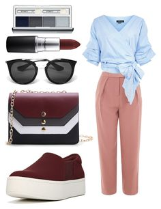 """""""Todays business Lady💄💸"""" by xdarinafxhs on Polyvore featuring Mode, Vince, Topshop, Prada, MAC Cosmetics und Clinique"""
