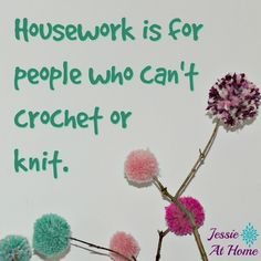 Silly Saturday - I& rather play with yarn. Crochet Vs Knit, Crochet Humor, Love Crochet, Double Crochet, Single Crochet, Knitting Quotes, Knitting Humor, Popcorn Stitch, Linen Stitch