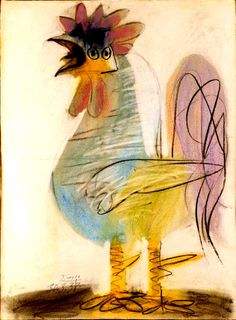 """ 'Rooster by Pablo Picasso, 1938 """